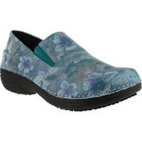 Women's Spring Step Ferrara Mint Mosaic Print Faux Leather