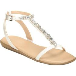 Women's Aerosoles Chlearwater T Strap Sandal White Faux Leather