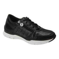 Women's Ros Hommerson Frankie Zipper Sneaker Black Polyurethane