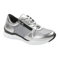 Women's Ros Hommerson Frankie Zipper Sneaker Silver Polyurethane