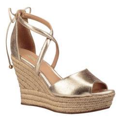 Women's UGG Reagan Metallic Wedge Sandal Gold Leather