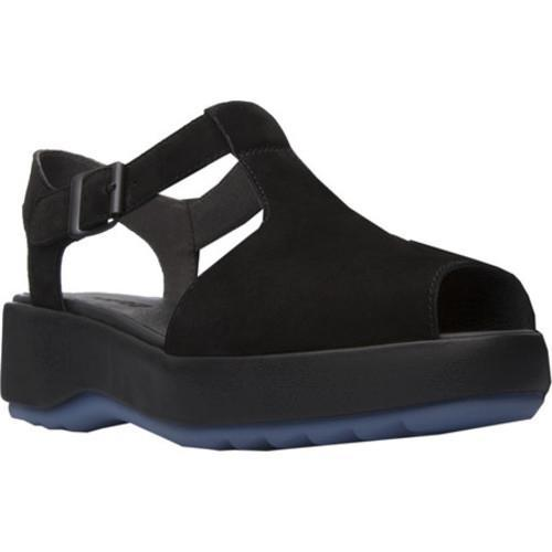 Women's Camper Dessa Platform Sandal Black Nubuck