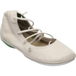 Women's Camper Right Nina Strappy Flat Light Beige Smooth Leather
