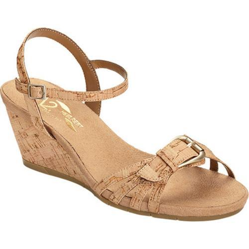 2caea76ba9b Shop Women s A2 by Aerosoles Crumb Cake Quarter Strap Wedge Sandal Cork  Combo Faux Cork - Free Shipping On Orders Over  45 - Overstock - 14608322
