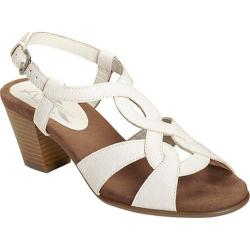 Women's A2 by Aerosoles Base Level Ankle Strap Sandal White Snake Printed Faux Leather