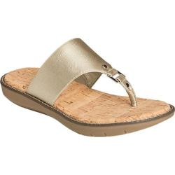 Women's A2 by Aerosoles Cool Cat Thong Sandal Gold Metallic Faux Leather