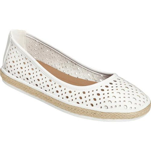 eff8669b9291 Shop Women s A2 by Aerosoles Trust Fund Espadrille White Faux Leather -  Free Shipping On Orders Over  45 - Overstock - 14608338