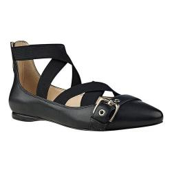 Women's Nine West Smoak Strappy Flat Black Multi Satin (2 options available)