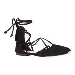 Women's Nine West Zoona Lace Up Flat Black Suede