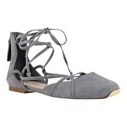 Women's Nine West Zoona Lace Up Flat Grey Suede