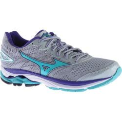 Women's Mizuno Wave Rider 20 Running Shoe High Rise/Turquoise/Liberty