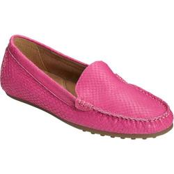 Women's Aerosoles Over Drive Loafer Pink Snake Embossed Leather