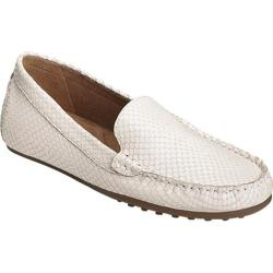 Women's Aerosoles Over Drive Loafer White Snake Embossed Leather