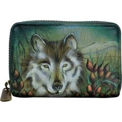 Women's Anuschka Credit And Business Card Holder Western Wolf