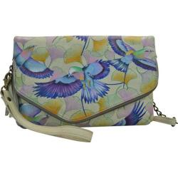 Women's Anuschka Hand Painted Convertible Envelop Clutch Wristlet Wings of Hope
