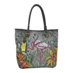 Women's Anuschka Hand Painted Large Shopper Flamboyant Flamingos