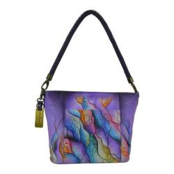 Women's Anuschka Hand Painted Medium Hobo Cosmic Quest