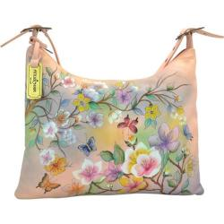 Women's Anuschka Hand Painted Slim Large Hobo Japanese Garden