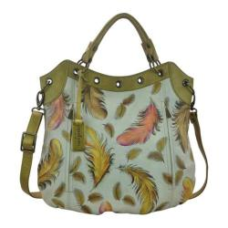 Women's Anuschka Multi Pocket Convertible Tote Floating Feathers Ivory