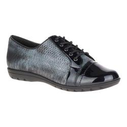 Women's Soft Style Valda Oxford Black Snake Print Synthetic