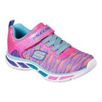 Girls' Skechers S Lights Litebeams Colorburst Sneaker Neon Pink/Multi
