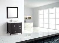 Shop Belvedere Freestanding Espresso Wood Inch Bathroom Vanity - Freestanding 36 inch bathroom vanity