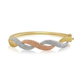 Divina Diamond Accent Three tone overlay Fashion Bangle(I-J,I3)