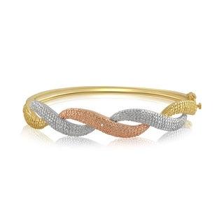 Divina Diamond Accent Three tone overlay Fashion Bangle(I-J,I3) - n/a