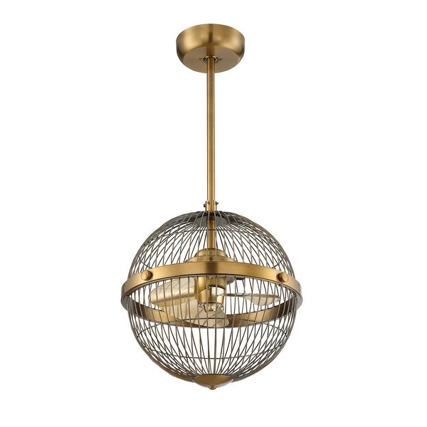 "Arena 17"" Pendant Fan D'Lier Warm Brass"