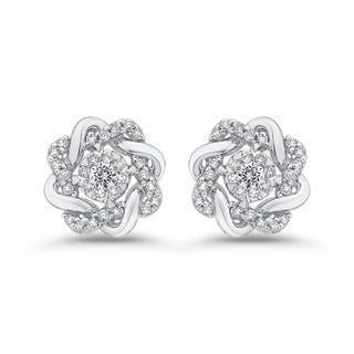 10K White Gold 1/3ct TDW Diamond Stud Earrings (G-H, I2-I3)