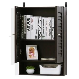 Porch & Den Tabor Espresso Double Door Wall Cabinet