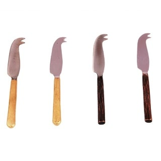 Inox 4-piece Copper Antiq/Gold Toffee Mini Cheese Knife Set