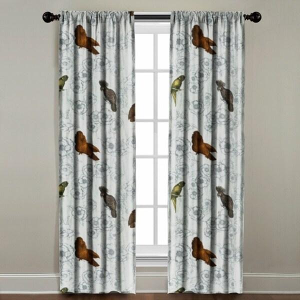 Birds on Floral Window Panel