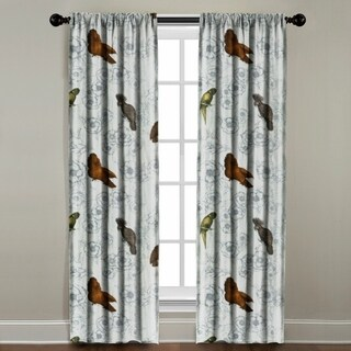 Birds on Floral Window Panel