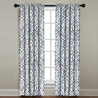 Shannon Printed Cotton Rod Pocket Curtain Panel|https://ak1.ostkcdn.com/images/products/17520200/P23745612.jpg?impolicy=medium