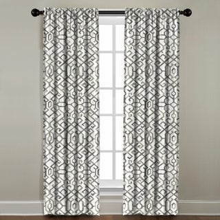 The Pillow Collection Khalid Brown Cotton Window Panel