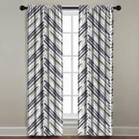 Multicolored Chevron Window Panel
