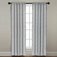 White and Navy Stripe Window Panel