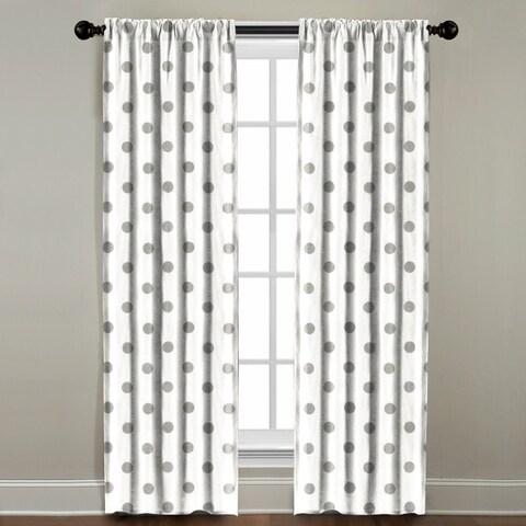 Grey Polkadot Window Panel