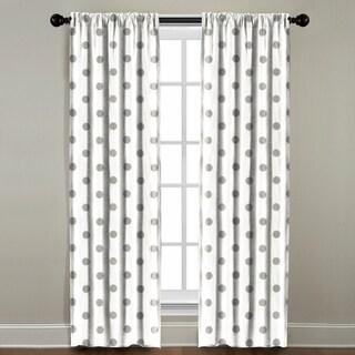 Grey Polka Dot Window Panel