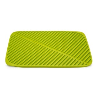 Flume Large 12.25 in. x 17.5 in. Folding Draining Mat In Green