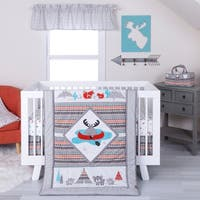 Trend Lab Moose Canoe 4 Piece Crib Bedding Set