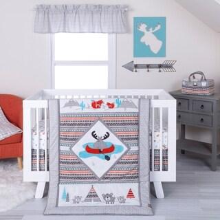 Trend Lab Moose Canoe 4 Piece Crib Bedding Set