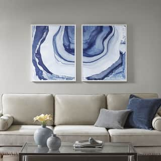 living room paintings. Madison Park Ethereal Blue Printed Framed Canvas Set Of 2 Art Gallery For Less  Overstock com