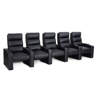 Octane Victory ZR550 Black Bonded Leather Recliner Home Theater Seating Set (Row of 5)