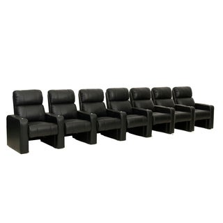 Octane Jet ZR600 Black Bonded Leather Recliner Home Theater Seating Set (Row of 6)