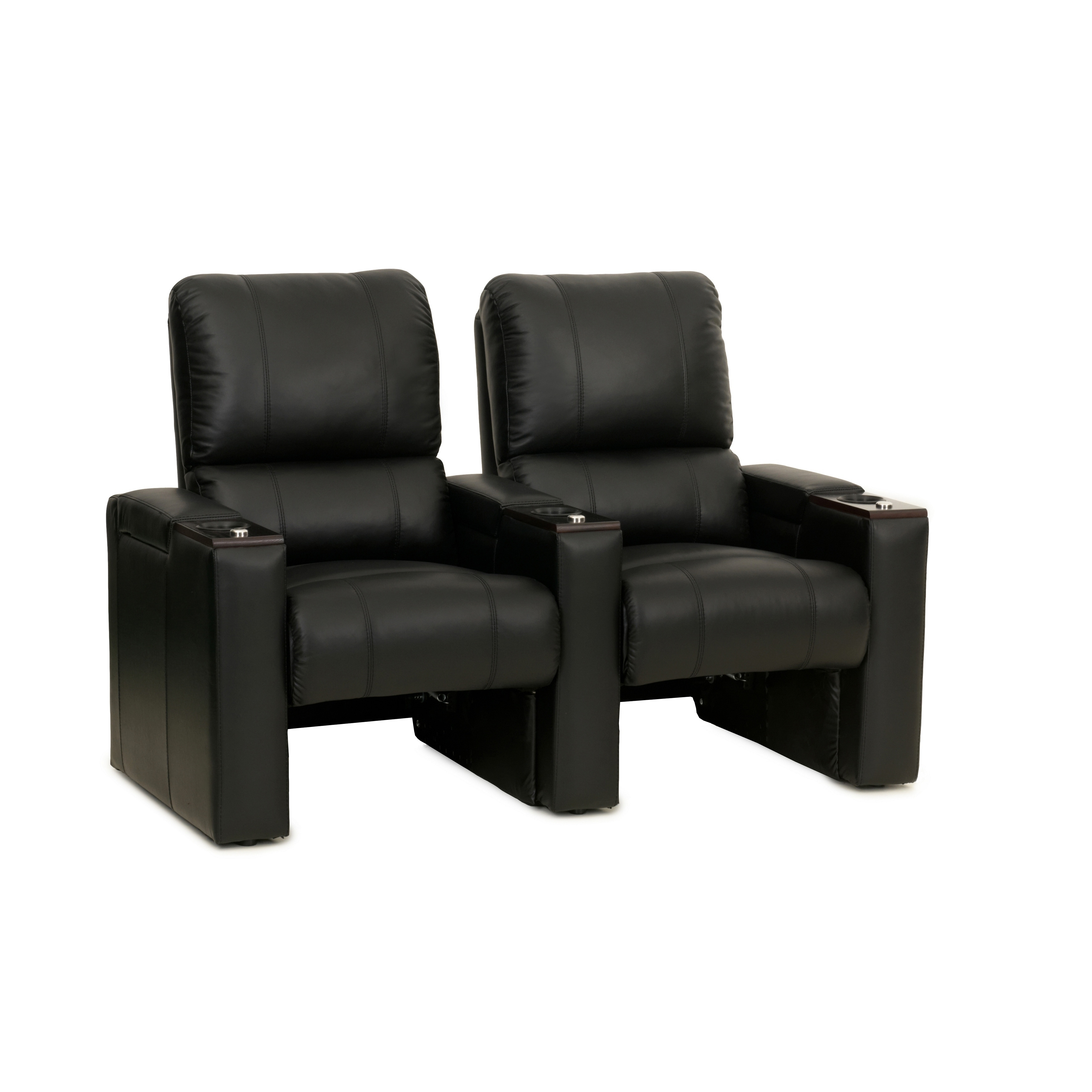 Surprising Details About Octane Axis Zr700 Black Bonded Leather Recliner Home Theater Seating Set Row Of Pdpeps Interior Chair Design Pdpepsorg