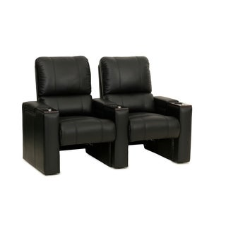 Octane Axis ZR700 Black Bonded Leather Recliner Home Theater Seating Set (Row of 2)