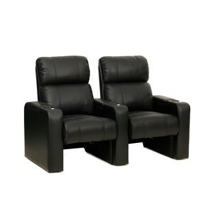 Octane Jet ZR600 Black Bonded Leather Recliner Home Theater Seating Set (Row of 2)
