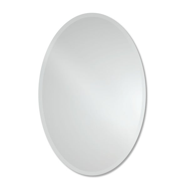 Frameless Beveled Oval Wall Mirror by The Better Bevel